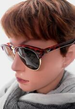 Sonnenbrille 70er Jahre  in Braun/ Braun Retro Vintage Unisex Sonnenbrillen (56)