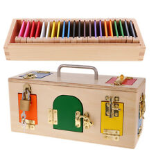 Wooden Montessori Toy Lock Box & Color Box Early Educational Toy Xmas Gift