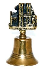 Vintage Solid Brass Made Westminster Abbey Sculpture London England Hand Bell