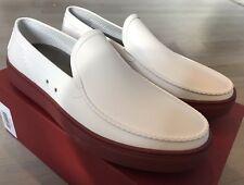 Salvatore Ferragamo White Fury Rubber Loafers Size US 12 Made in Italy