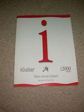 Brian Moore guitarras catálogo 2002 pantalla personalizada de estudio de coleccionista de Guitarra de desmenuzar