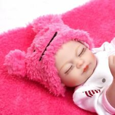 10In. Mini Girl Dolls Soft Silicone Vinyl Materials Reborn Baby-US Free Shipping