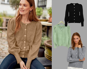 New Womens Ladies B Young Embossed Button Knitted Cardigan Jumper in 4 Colours