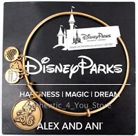 NEW Disney Parks ALEX AND ANI 2016 Sorcerer Mickey Mouse GOLD Bangle Bracelet