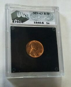 Really beautiful 1949S cased uncirculated Lincoln Cent Look & bid or buy it now!