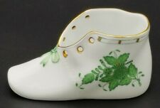 Herend CHINESE BOUQUET APPONYI GREEN 7570/AV Porcelain Baby Shoe - Hungary