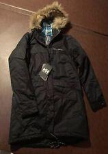NWT $260 Helly Hansen Women's W Coastline Parka Coat Jacket Black Large L Snow