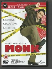 MONK - Season 2 - UK DVD - SERIES TWO - (mint condition - as new/unplayed)