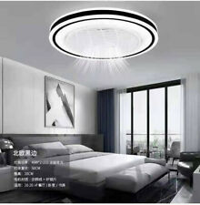 Modern Ceiling Fan With Light Dimmable Led Chandelier Lamp & Remote Lamp Fixture