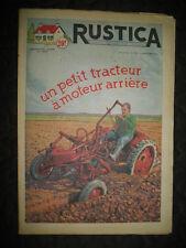 RUSTICA n°50 16 decembre 1951un petit tracteur à moteur arrière