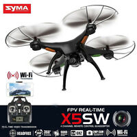 Syma X5SW RC Quadcopter 2.4Ghz 4CH 6-Axis Gyro 2MP HD Camera Drone FPV RTF Black