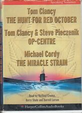Tom Clancy Hunt For Red October Op Centre Miracle Strain 6 Cassette Audio Book