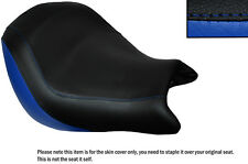 ROYAL BLUE & BLACK CUSTOM FITS HONDA VTX 1800 02-04 FRONT LEATHER SEAT COVER