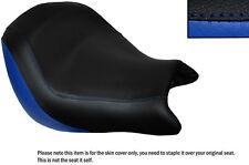 Royal Blue & Negro Custom encaja Honda Vtx 1800 02-04 Frontal De Cuero Funda De Asiento