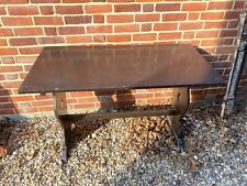 Vintage Old Style Refectory Or Pub Table And 2 Chairs
