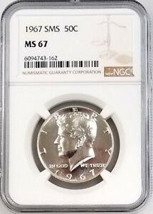 1967 SMS Kennedy Half Dollar certified MS 67 by NGC!