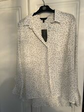 Long Sleeve Cream Blouse With Black Spots From New Look Size 12