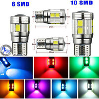 UPTO 10X T10 501 W5W CAR SIDELIGHT BULB ERROR FREE CANBUS 6SMD 10SMD LED XENON