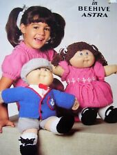 Patons Knitting Pattern for Cabbage Patch Kids Dolls