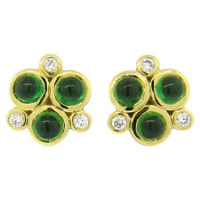 Temple St. Clair Trio Tsavorite 18k Gold Earrings