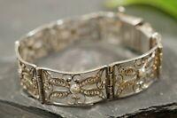 Tolles 835 Silber Armband Jugendstil Art Deco Filigran Abstrakte Schmetterlinge