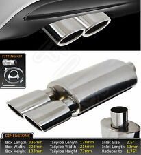 UNIVERSAL PERFORMANCE FREE FLOW STAINLESS STEEL EXHAUST BACKBOX YFX-0732  TLB