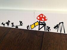 Mouse Swing parco giochi scivolo CAROSELLO TOPI Kids Decalcomania In Vinile Adesivi Wall Art
