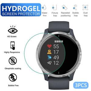3PCS TPU Hydrogel Soft Transparent Screen Protection Film For Garmin Venu Watch