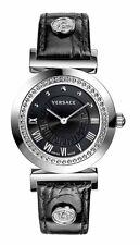 Versace P5Q99D009S009 VANITY Damenuhr Leder schwarz Neu