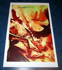 signed DARK TOWER fall of gilead print litho #3 variant MITCH BREITWEISTER 11x17