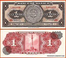 MEXIQUE billet neuf de 1 PESOS Pick59k  calendrier azteque en pierre  1969