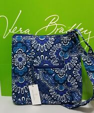 NWT $60 Vera Bradley HIPSTER Cross-body Shoulder Bag in BLUE TAPESTRY
