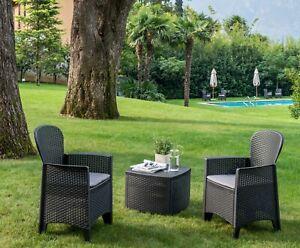 Dmora - Salotto da giardino, Made in Italy, disponibile in 3 colori