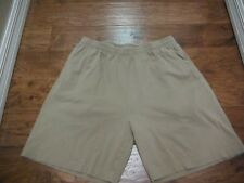 "ROUNDTREE & YORKE PULL ON CASUAL TAN SHORTS W/POCKETS SIZE L - 7"" INS X 16"" W"