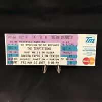 Temptations Dakota Exposition Center SD Concert Ticket Stub Vintage May 16 1997