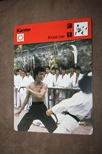 BRUCE LEE 1977 Sportscaster Card #02-20 KARATE