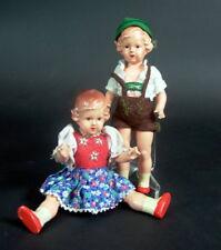 altes schönes Puppenpärchen - bayerische Trachten 1950ies