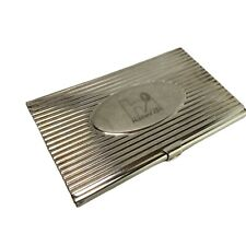 Silver Metal Business Card ID Holder