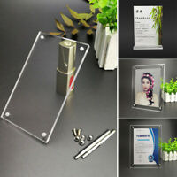 Acrylic Clear Photo Frame Picture Acrylic Certificate Frame Price Tag Holder New
