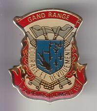RARE PINS PIN'S .. POMPIER FIRE CASERNE LORRAINE BLASON SP GRANDRANGE 57 ~DL