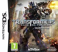 Transformers 3 Dark of the Moon Autobots Nintendo DS DSi XL Brand New