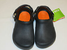 Crocs Mens Womens Bistro Pro Clog black roomy fit M4 W6 mule 15010-001-160 NEW
