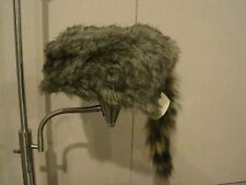 Real Coon Skin Cap Hat Davy Crocket Raccoon Coonskin