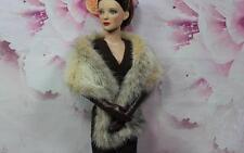 ~Blush Cross Mink Fur Wrap for Sydney Tyler Gene Evangeline dolls~by dimitha~
