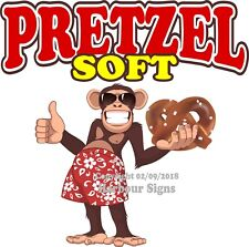 Soft Pretzel DECAL (Choose Your Size) Monkey Concession Food Sticker