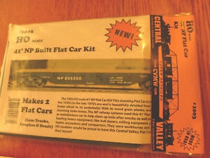 Central Valley HO #1003 (40' Flat Car Kit) 1:87th Scale (Plastic Parts)
