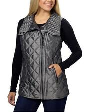 NEW Marc New York Andrew Marc Women's QUILTED VEST Grey M