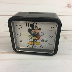 VTG Walt Disney Company Lorus Quartz Mickey Mouse Alarm Clock Fresh Battery