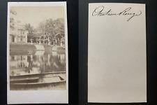 France, Paris, quartier Château Rouge Vintage albumen print CDV.  Tirage album