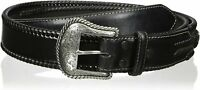 Nocona Belt Co. Men's Top Hand Black Wipstitch